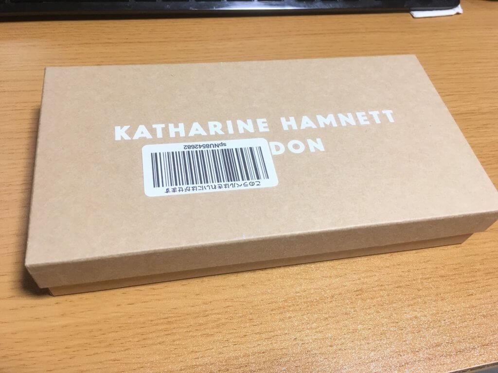 キャサリンハムネットロンドン(KATHARINE HAMNETT LONDON)L字ファスナー長財布の外箱