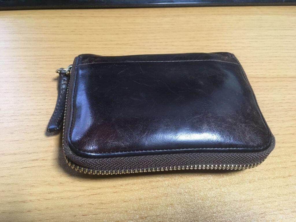 元々使っていたポーター(PORTER)の二つ折り財布