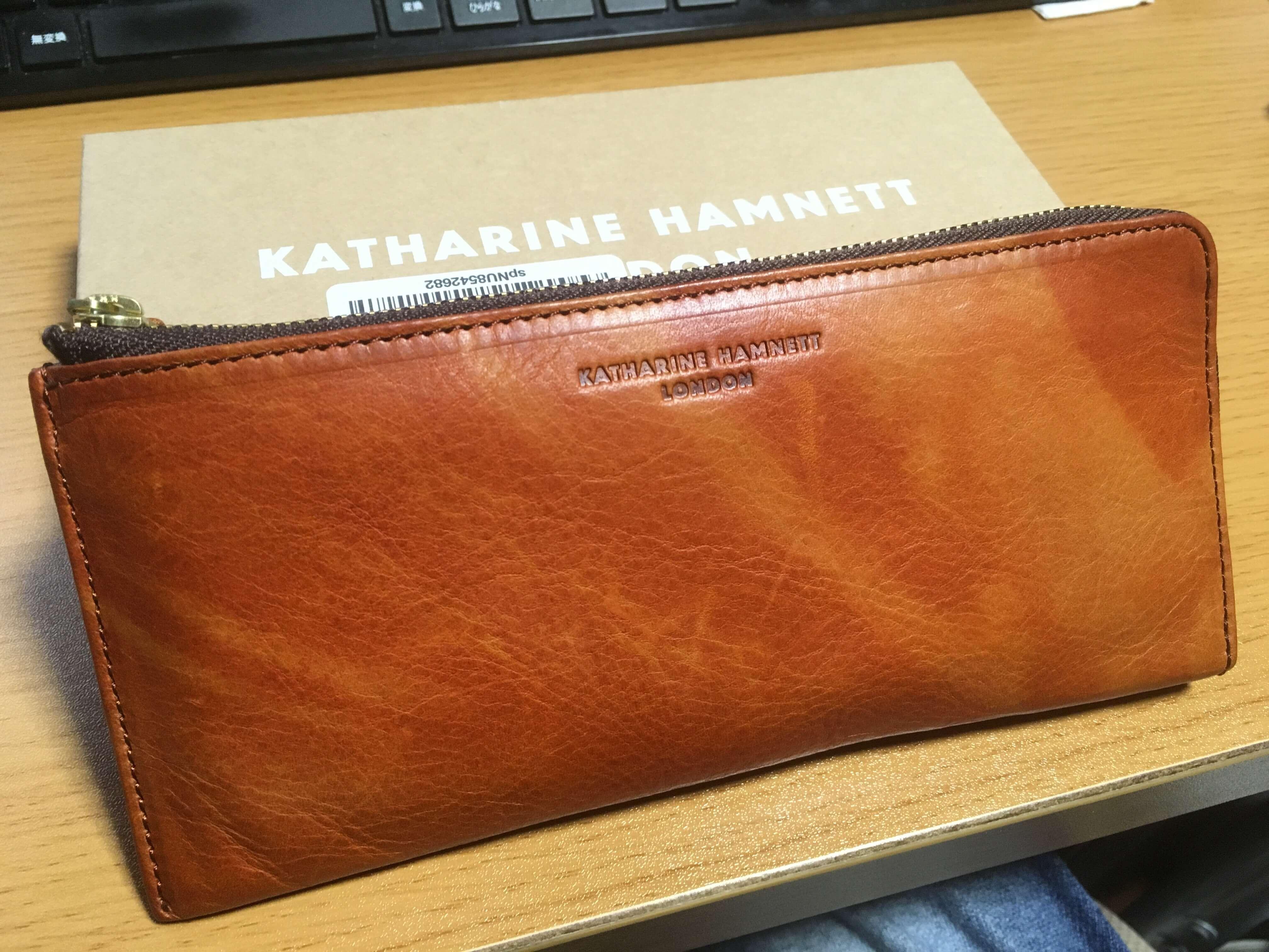 キャサリンハムネットロンドン(KATHARINE HAMNETT LONDON)L字ファスナー長財布
